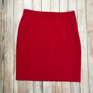 LOFT high waisted pencil skirt in apple red